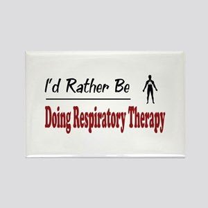 Rather Be Doing Respiratory Therapy Rectangle Magn