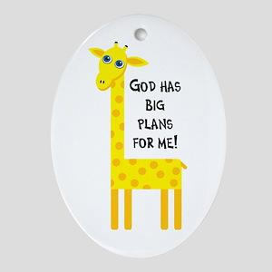 Cute Christian Oval Ornament