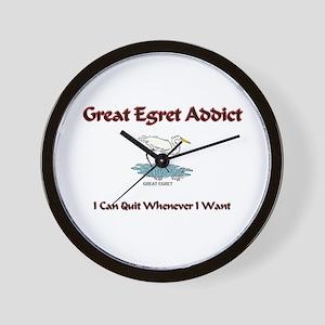 Great Egret Addict Wall Clock