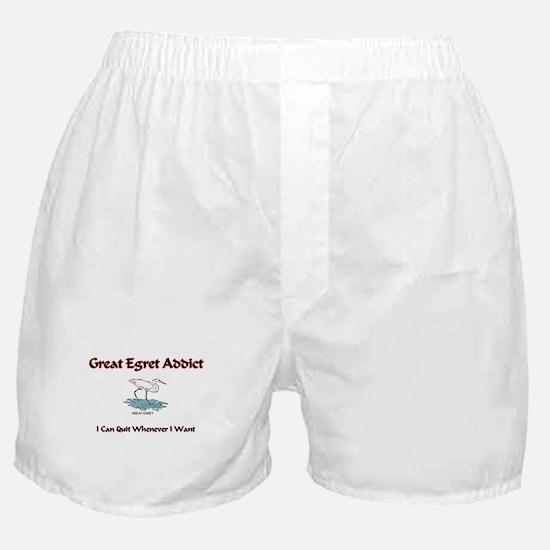 Great Egret Addict Boxer Shorts