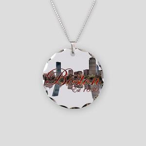 Boston Necklace Circle Charm