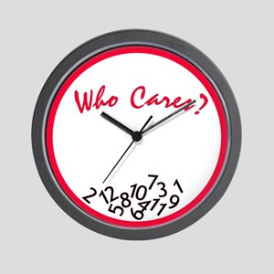 Who Cares? Wall Clock <br> (red &amp; black)
