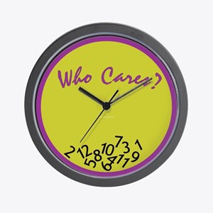 Who Cares? Wall Clock <br>(purple &amp; green)