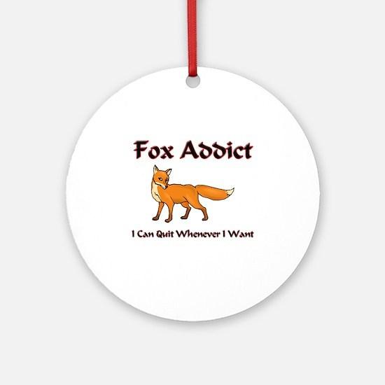 Fox Addict Ornament (Round)