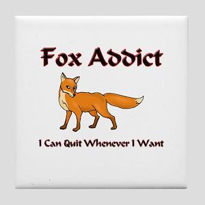 Fox Addict Tile Coaster