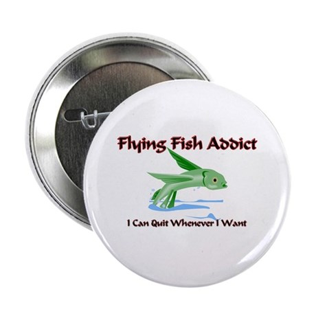 """Flying Fish Addict 2.25"""" Button (10 pack)"""