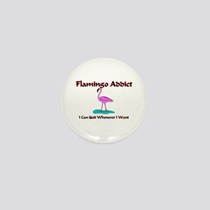 Flamingo Addict Mini Button