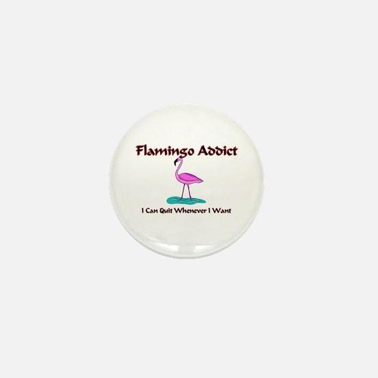 Flamingo Addict Mini Button