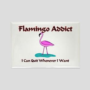 Flamingo Addict Rectangle Magnet