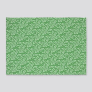 Apple Green Fractal-style Pattern 5'x7'Area Rug