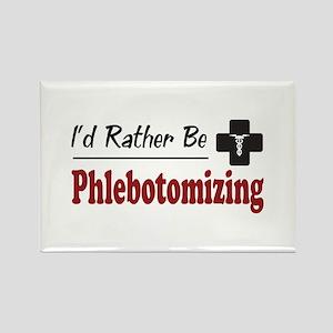 Rather Be Phlebotomizing Rectangle Magnet
