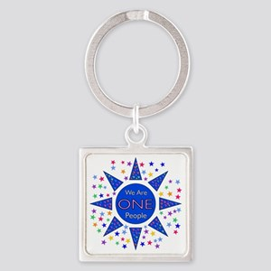We Are One People Square Keychain