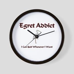 Egret Addict Wall Clock