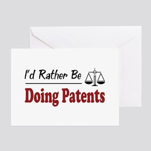 Rather Be Doing Patents Greeting Card