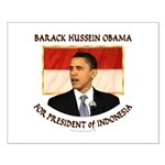 Obama for President of Indonesia Small Poster