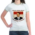 Obama for President of Indonesia Jr. Ringer T-Shir