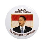Obama for President of Indonesia Ornament (Round)