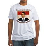 Obama for President of Indonesia Fitted T-Shirt