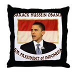 Obama for President of Indonesia Throw Pillow