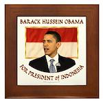 Obama for President of Indonesia Framed Tile
