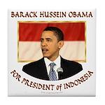 Obama for President of Indonesia Tile Coaster