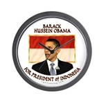 Obama for President of Indonesia Wall Clock