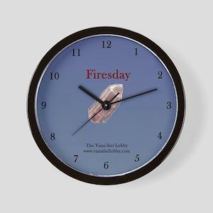 Firesday Wall Clock