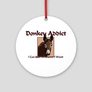 Donkey Addict Ornament (Round)