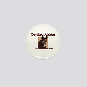 Donkey Addict Mini Button