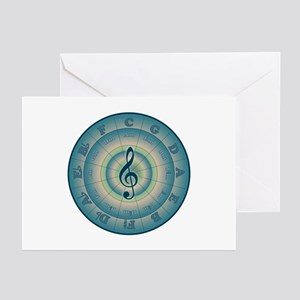 Colorful Circle of Fifths Greeting Cards (Pk of 10