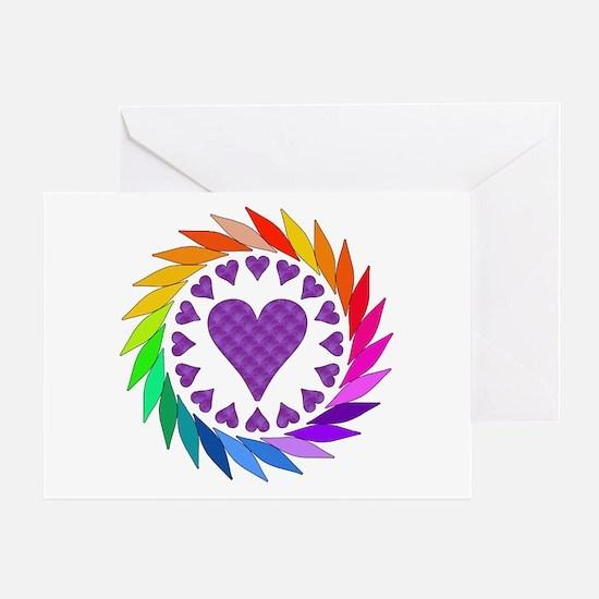 Rainbow Love Hearts Greeting Card