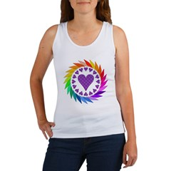 Rainbow Love Hearts Women's Tank Top