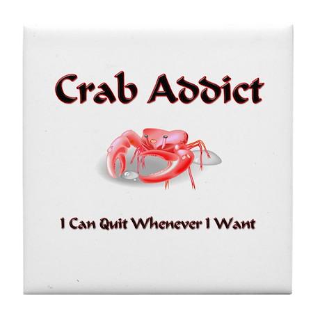 Crab Addict Tile Coaster