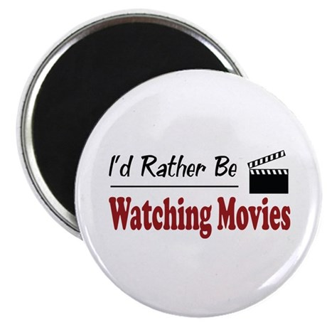 """Rather Be Watching Movies 2.25"""" Magnet (10 pack)"""