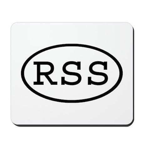 RSS Oval Mousepad