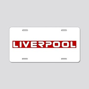 liverpoolscouserredUPPERlpf Aluminum License Plate