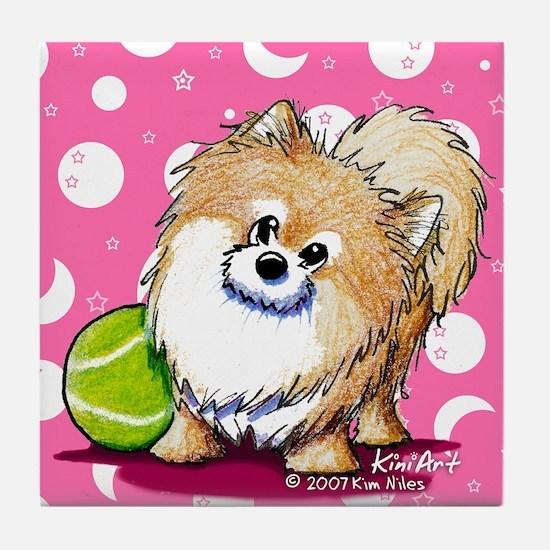 Tennis Pro Pom Tile Coaster