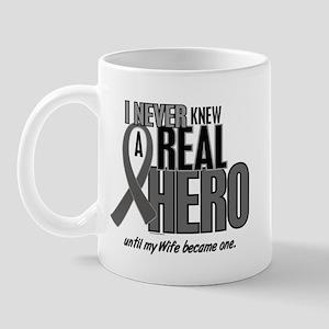 Never Knew A Hero 2 Grey (Wife) Mug