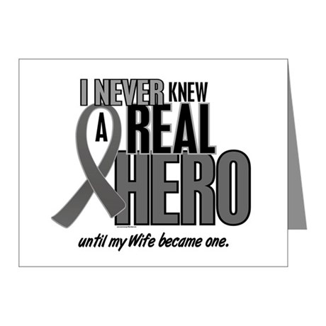 Never Knew A Hero 2 Grey (Wife) Note Cards (Pk of