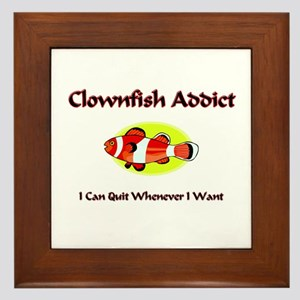 Clownfish Addict Framed Tile