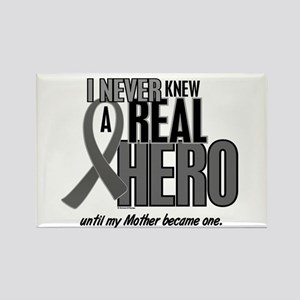 Never Knew A Hero 2 Grey (Mother) Rectangle Magnet