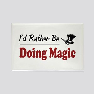 Rather Be Doing Magic Rectangle Magnet
