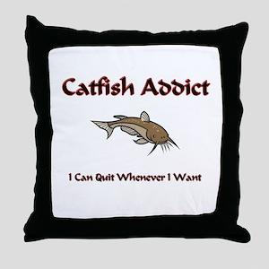Catfish Addict Throw Pillow
