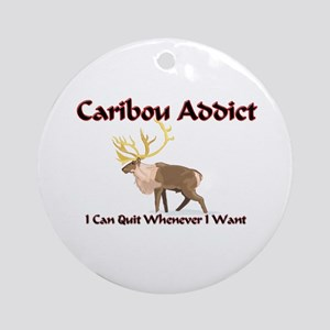 Caribou Addict Ornament (Round)