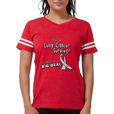 Lung Cancer Survivors Are A Big Deal! Sopravvissuti Al Cancro Al Polmone Sono Un Grande Affare! T-shirt Maglietta qwjdegbSe