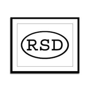 RSD Oval Framed Panel Print