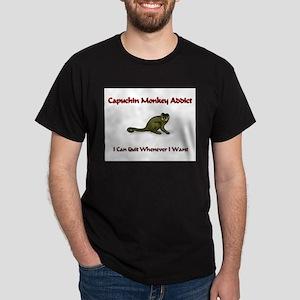 Capuchin Monkey Addict Dark T-Shirt