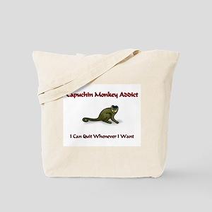 Capuchin Monkey Addict Tote Bag