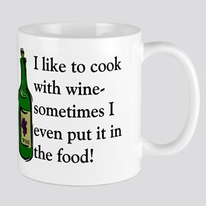 I Like To Cook With Wine Mug