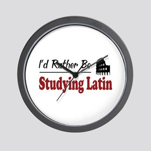 Rather Be Studying Latin Wall Clock